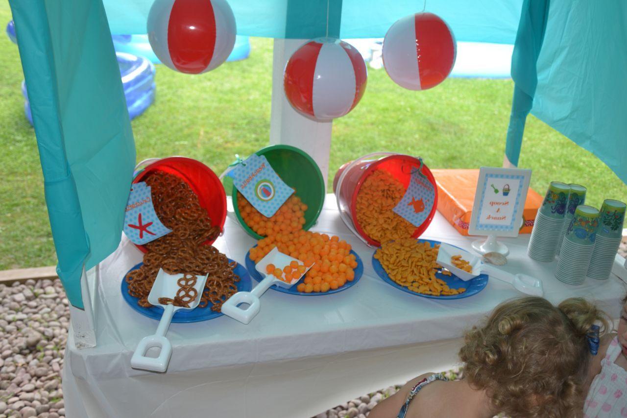 Diy Beach Theme Party Decorations Cute Idea For Table