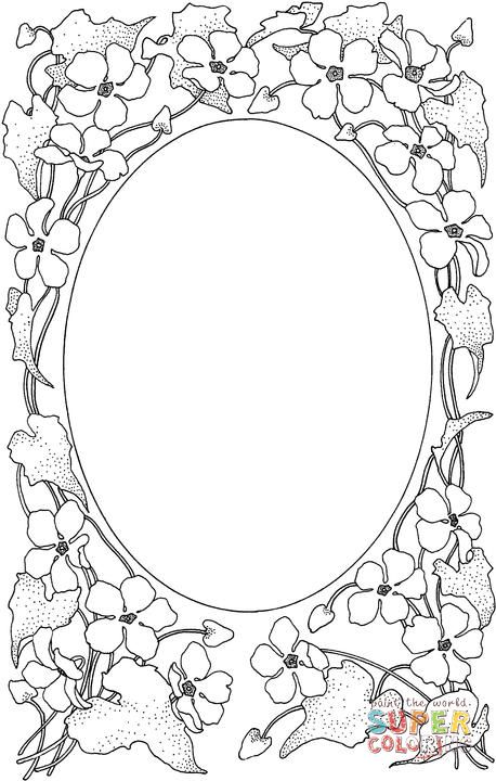 Picture Frame Coloring Page Supercoloring Com Free Printable