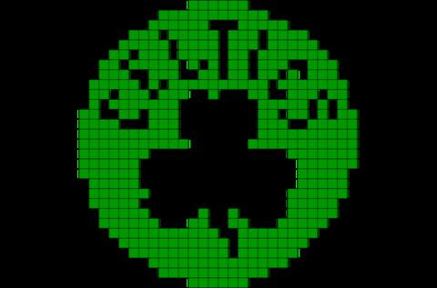 Boston Celtics Pixel Art Pixel Art Art Perler Patterns