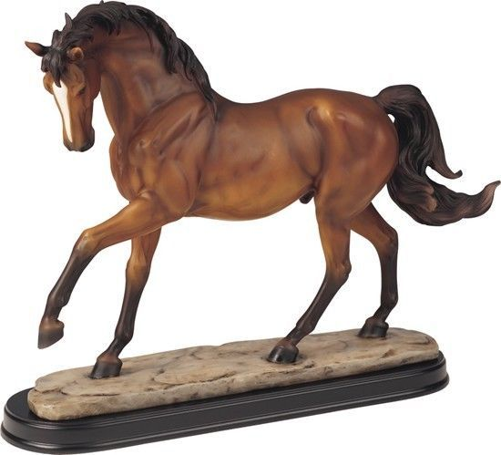 14 Inch Brown Horse Animal Figurine Statue Collectible Figure Wild Horses Nature