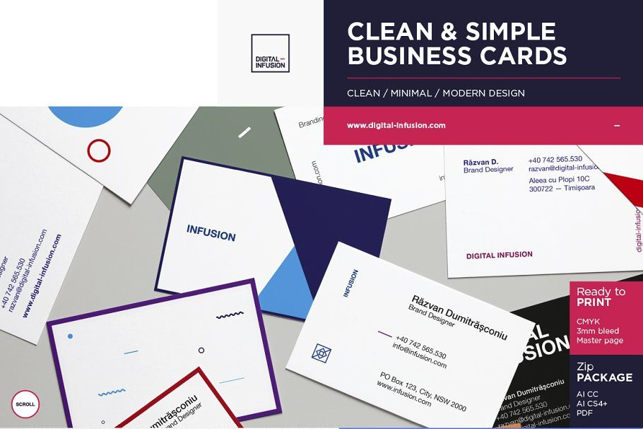 Clean Modern Business Cards In 2020 Simple Business Cards Cleaning Business Cards Modern Business Cards