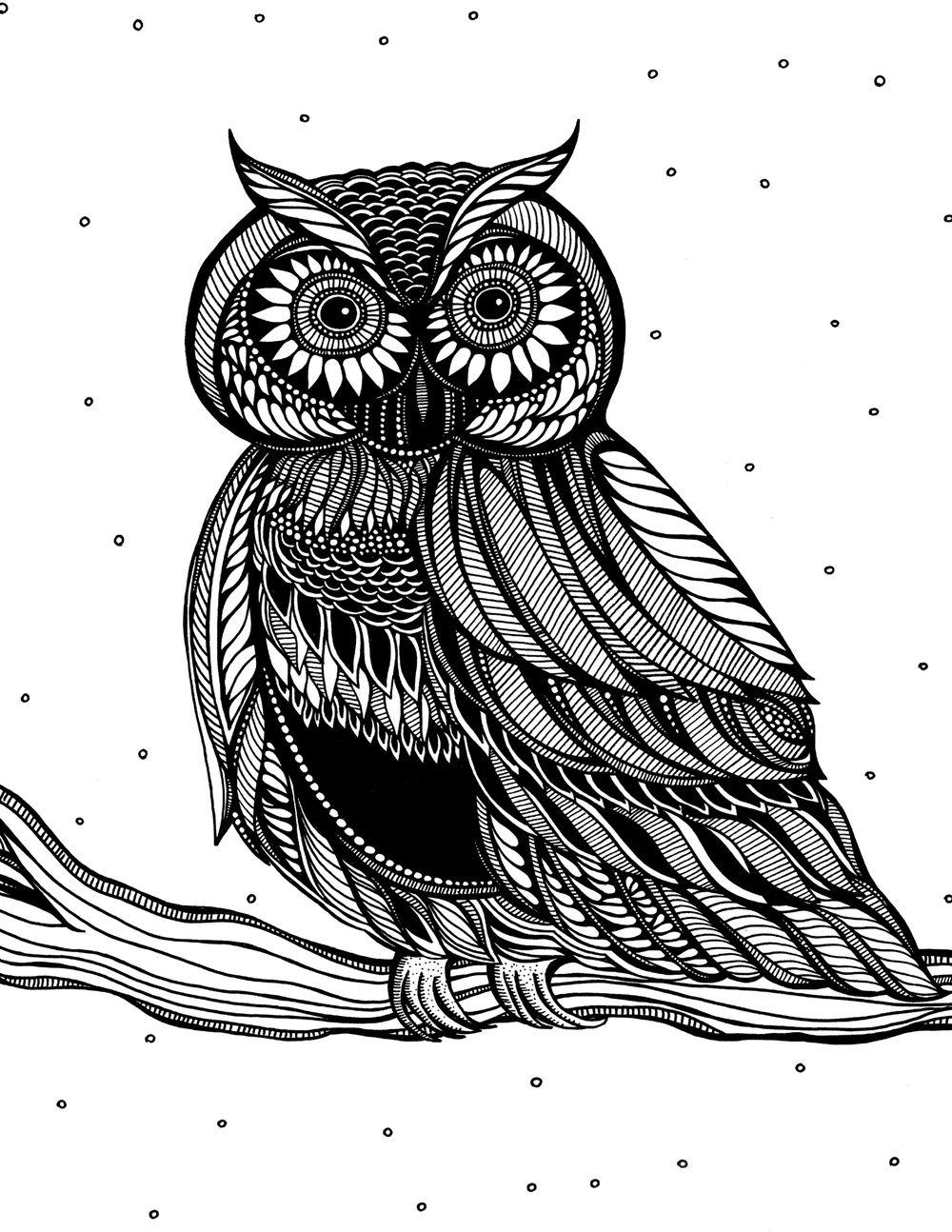 Owlworksheetg by judy pham zentangle creations pinterest