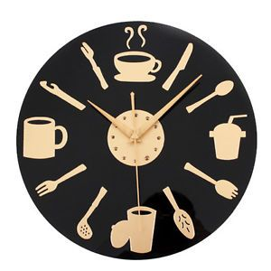 Kitchen Wall Clock Knife Fork Spoon Retro Art Tableware Watch Home Decor Kitchen Wall Clocks Kitchen Clocks Wall Clock Modern