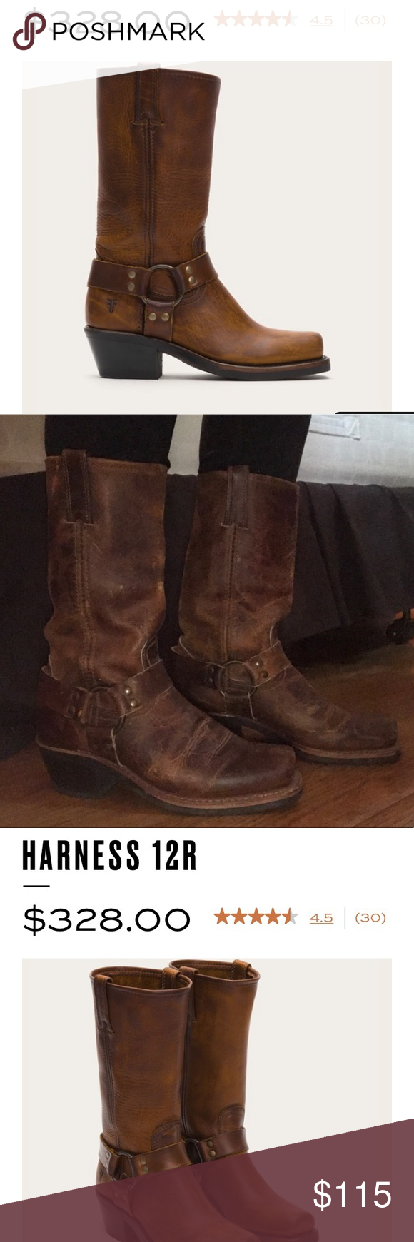 Authentic Frye Harness 12R riding boots Worn twice!!! Heavy duty riding  boots.