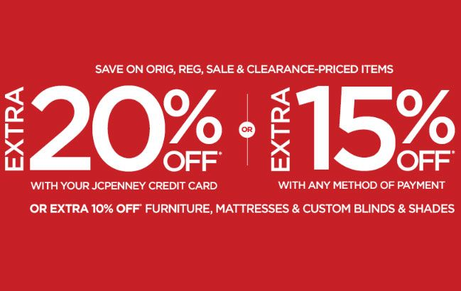 Jcpenney coupon codes 20 off discount on using your