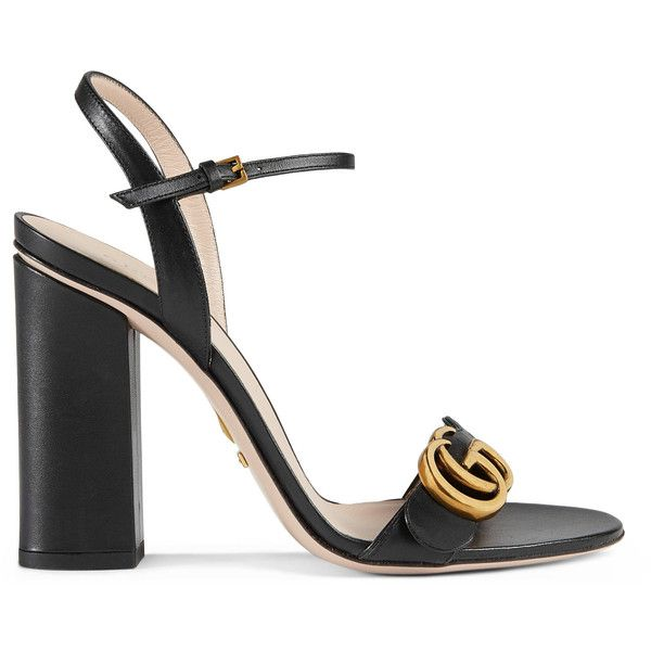 56f79d3c4 Gucci Leather Sandal ( 730) ❤ liked on Polyvore featuring shoes ...