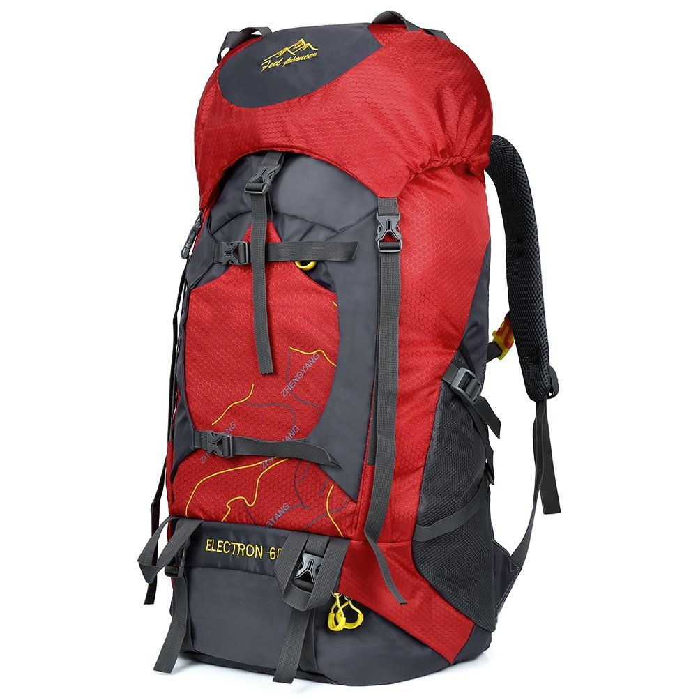 ebd49c5243b9 Vbiger 60L Outdoor Backpack Waterproof Backpacking Pack Travel Daypack for  Climbing