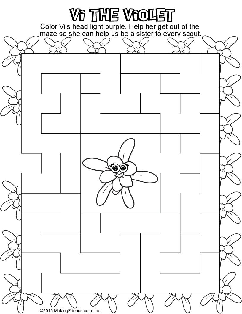 violet petal maze girl scout daisy