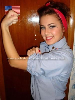 coolest rosie the riveter diy halloween costume idea 3 - Rosie The Riveter Halloween Costume