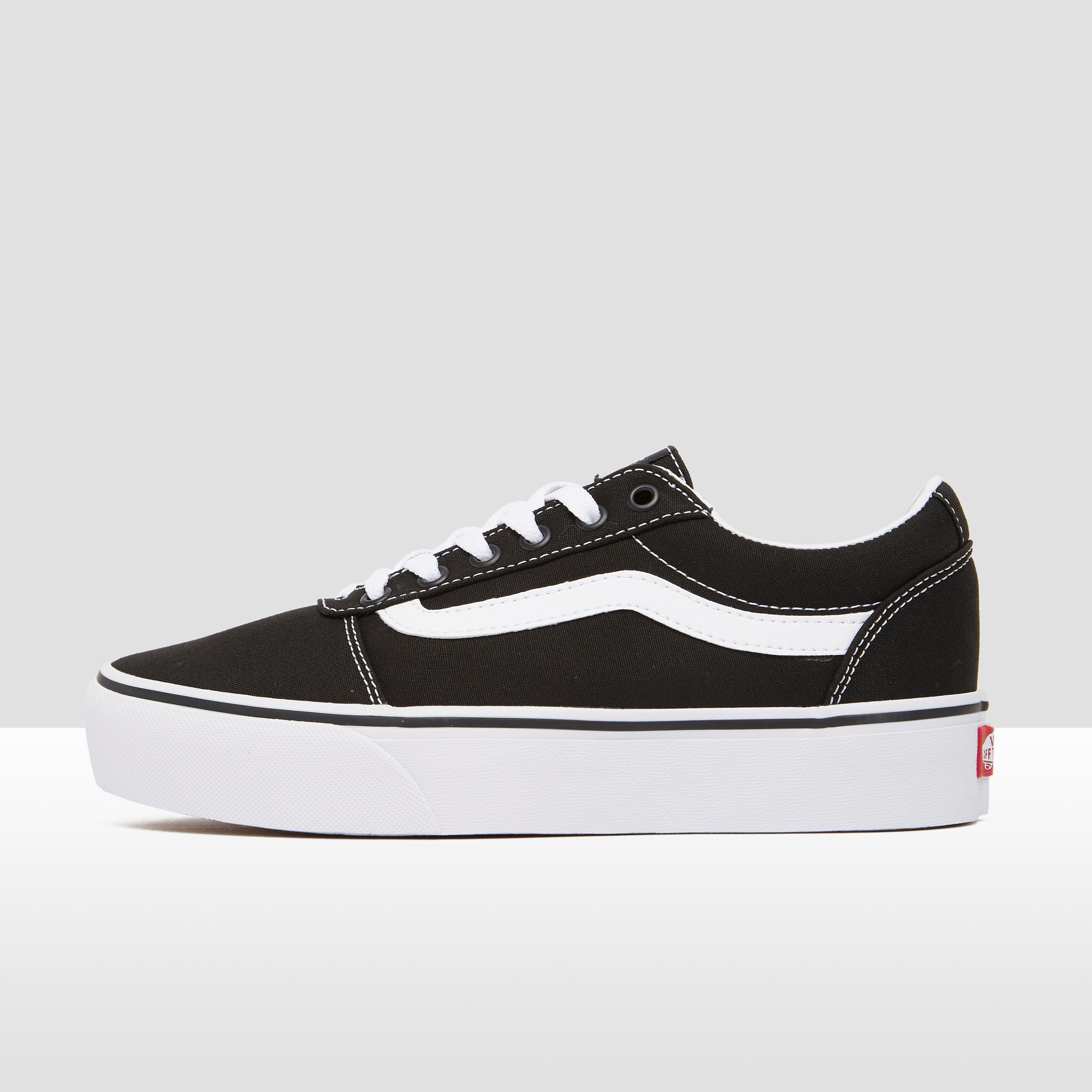 Vans ward platform sneakers zwart/wit dames in 2020 | Zwart ...