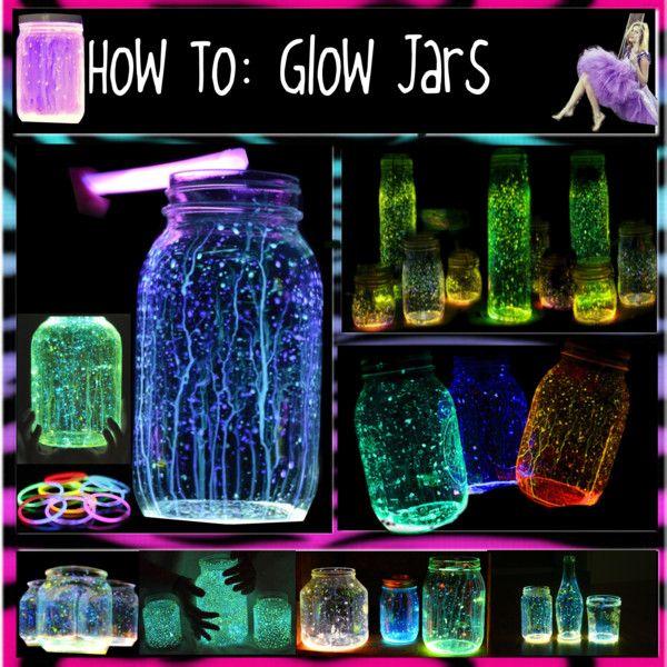How To Glow Jars Glow Sticks Glow In The Dark Paint By