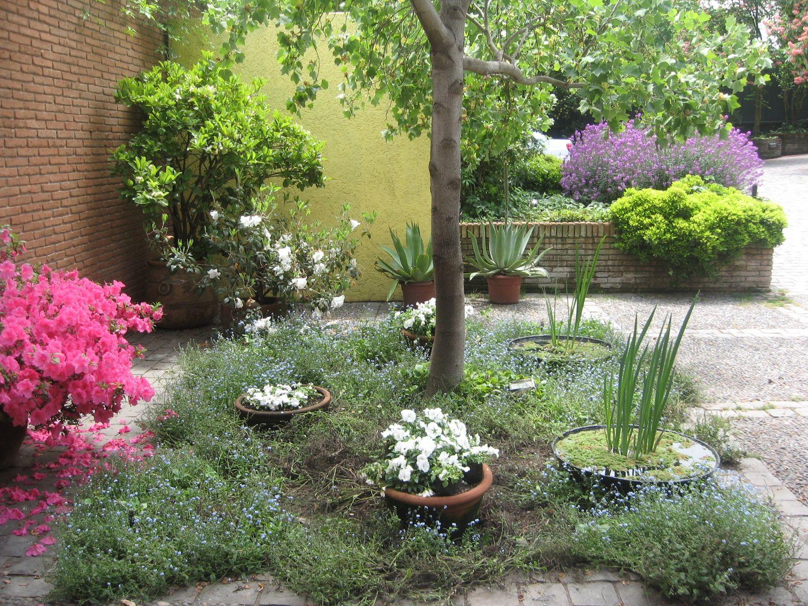 patio con pailas  jardines modernos  Pinterest