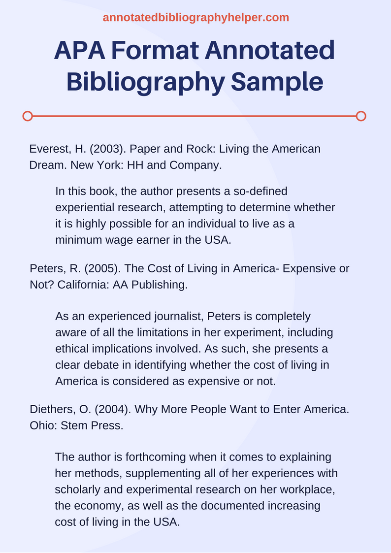 If You Are Searching For A Perfect Apa Format Annotated Bibliography