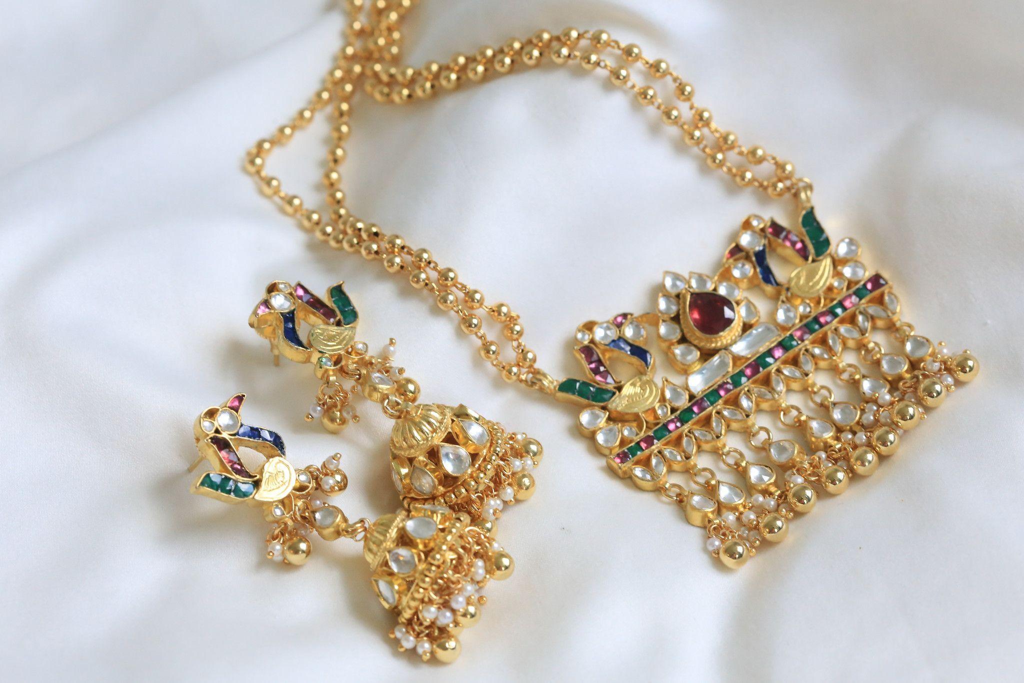 Jadau kundan necklace products pinterest ethnic closure and stone