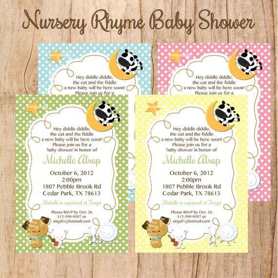 NURSERY RHYME Baby Shower Or Birthday Invitation