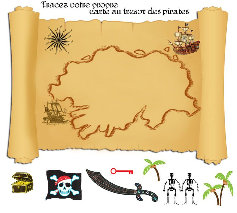 ma propre carte au tresor jeu de piste chasse au tr sor pinterest tr sor pirate et gabarit. Black Bedroom Furniture Sets. Home Design Ideas