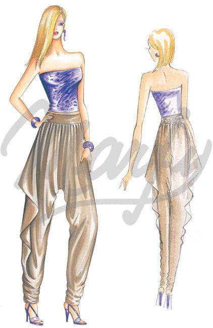 cartamodello Pantaloni / Tute 2215 | MARFY | Pinterest | Nähen