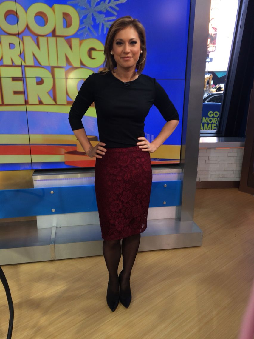 Ginger Zee Hot Pics with regard to skirt is @mng @mangofashion , top is @theory   my wardrobe