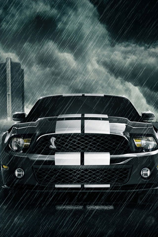 Mustang In The Rain Con Imagenes Coches Rapidos Autos Mustang