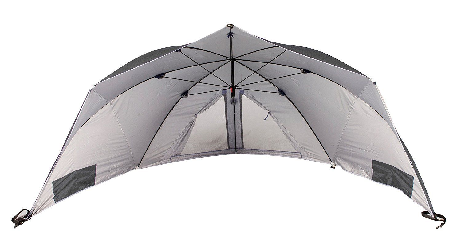 Meerweh 74033 60 X 290 X 145 Cm Beach Tent And Festival Shelter Grey Beach Tent Tent Outdoor Gear
