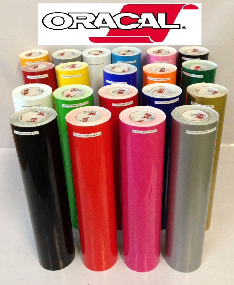 16 Rolls 12 X 5 Feet Oracal 651 Vinyl For Craft Cutter Choose Color Deal Ebay Hobby Signs Vinyl Crafts Adhesive Vinyl