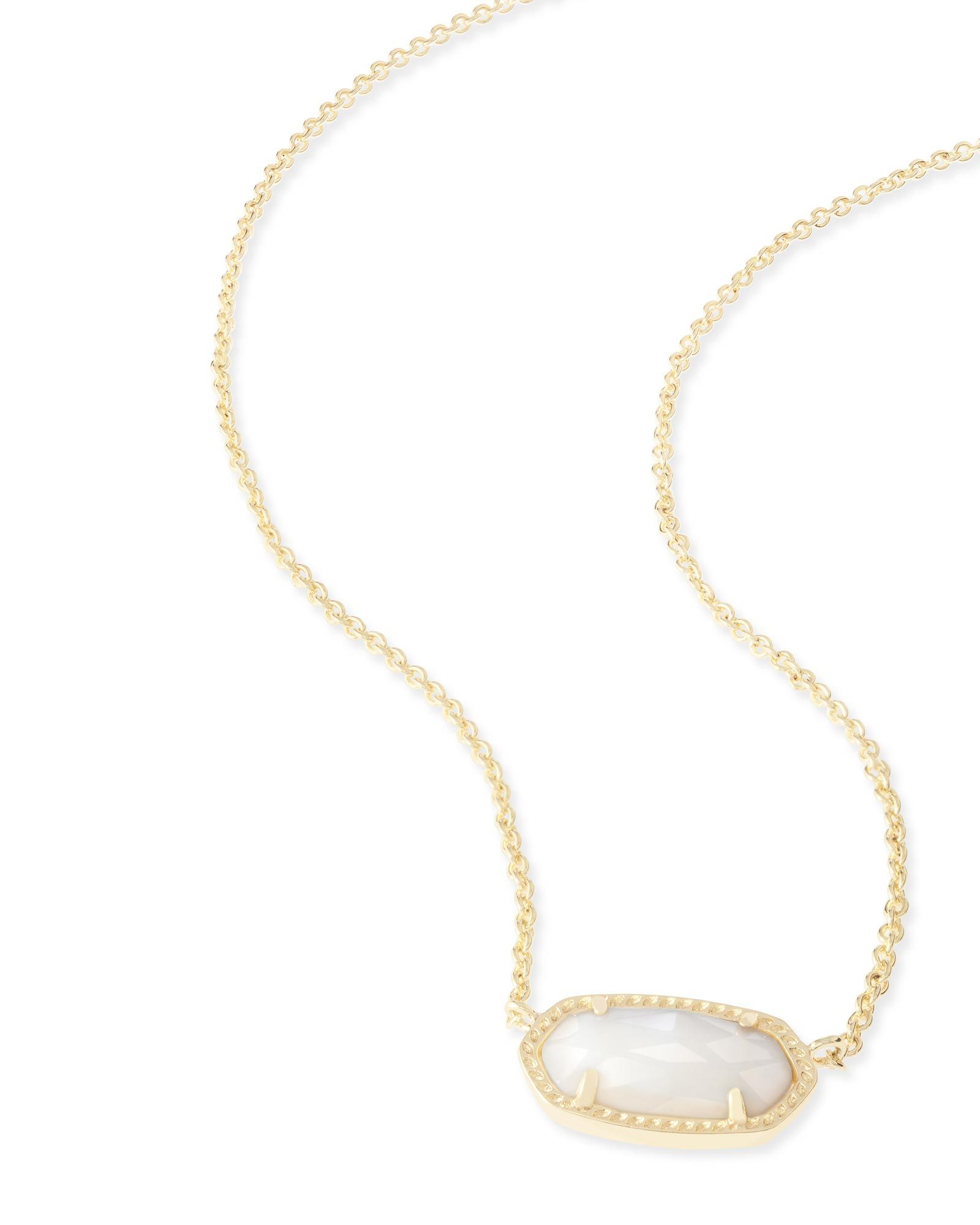 kendra scott gold pendant necklace in white pearl wish list