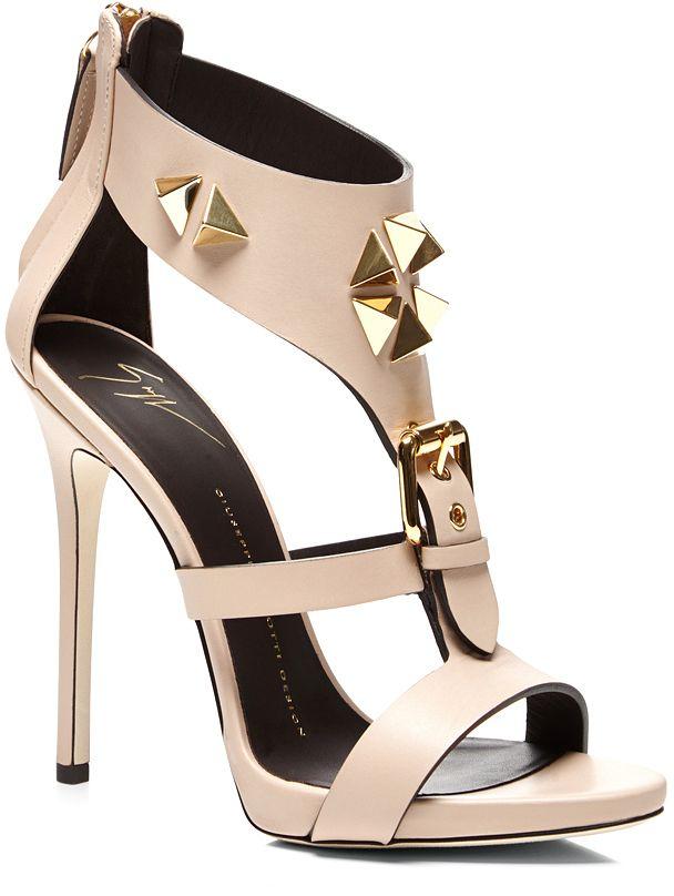 435e5f0e2 Giuseppe Zanotti Studded Heel Sandal with Buckle Detail on shopstyle ...