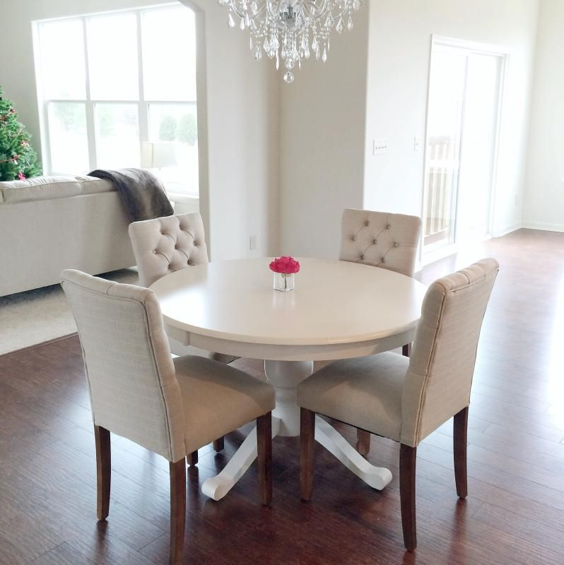 seagrass dining chairs mismatched love it minus the white table threshold brookline tufted dining