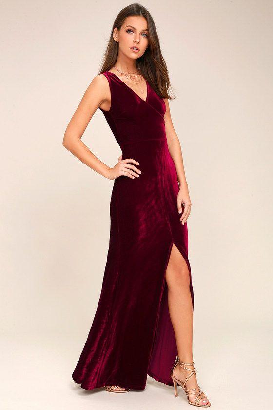 25a14ee31c0 Crushin  It Burgundy Velvet Maxi Dress in 2019