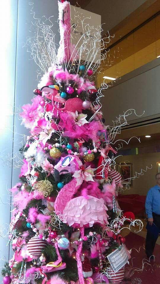check out 18940 08309 Pink flamingo Christmas tree at Phoenix (Arizona) Children's ...