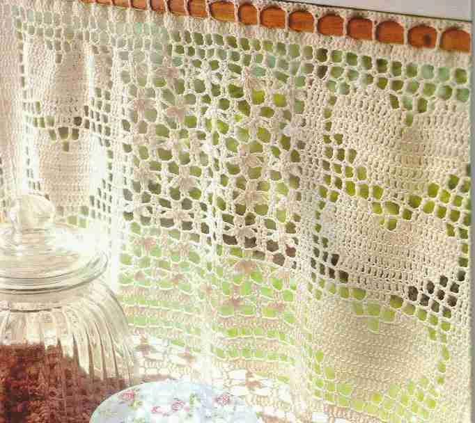 Cortina a Crochet | Curtains | Pinterest | Croché, Cortinas y ...