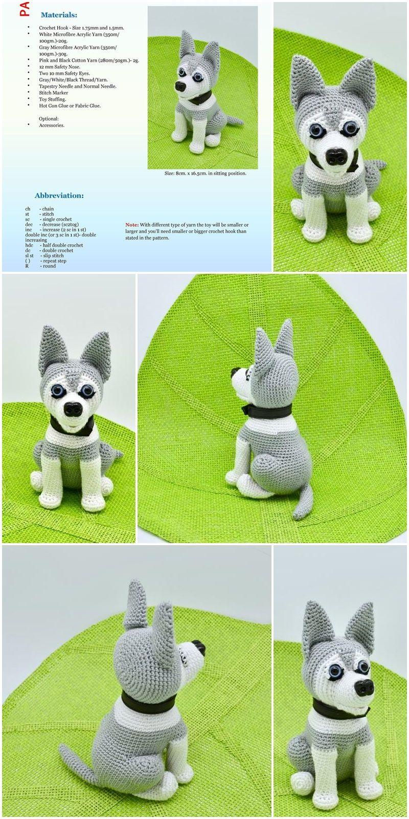 DIY Crochet Amigurumi Puppy Dog Stuffed Toy Free Patterns | 1600x800