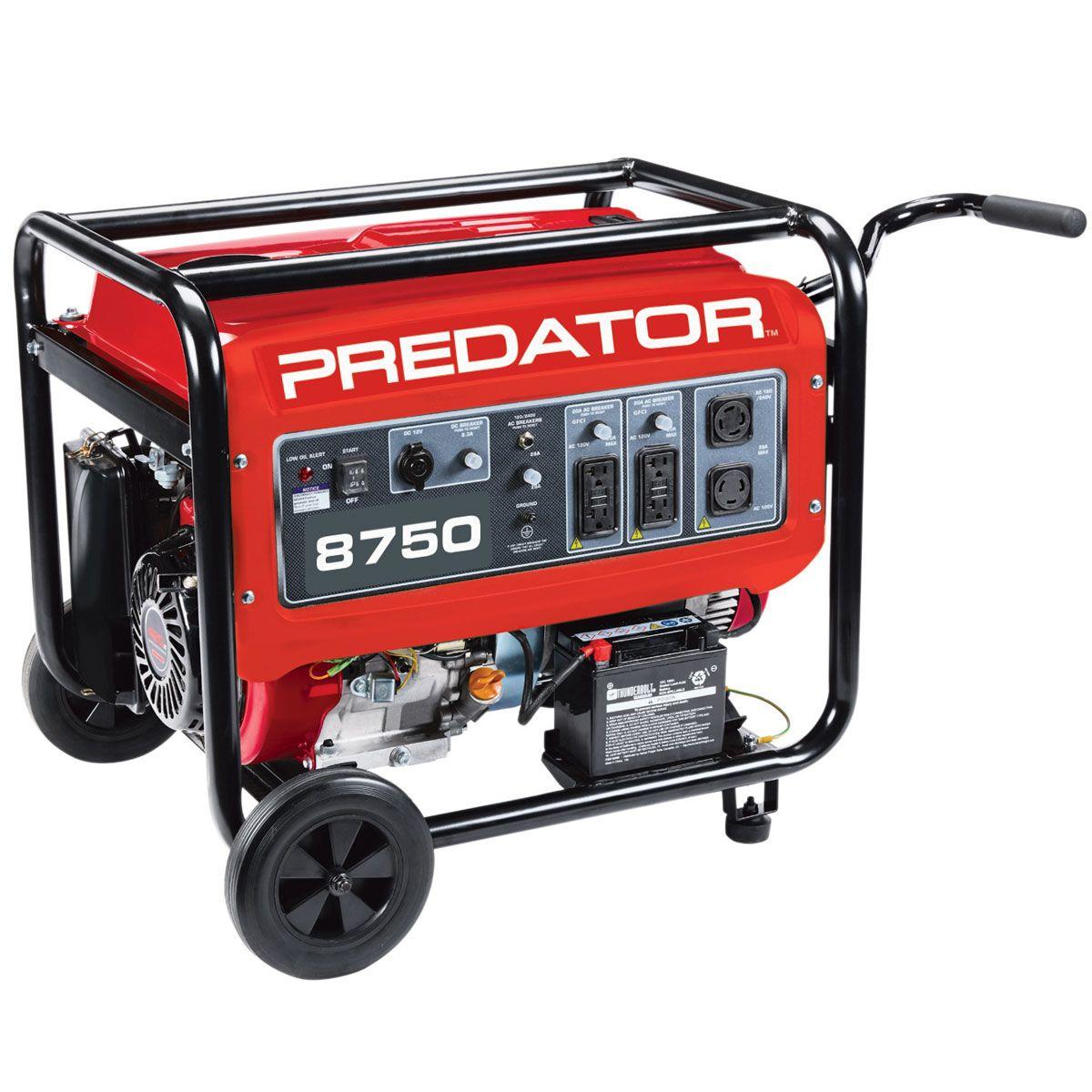 8750 Watt Max Starting Gas Powered Generator EPA III