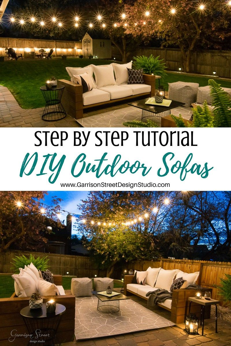 DIY Outdoor Sofa Full Tutorial Exterior u Backyard Ideas