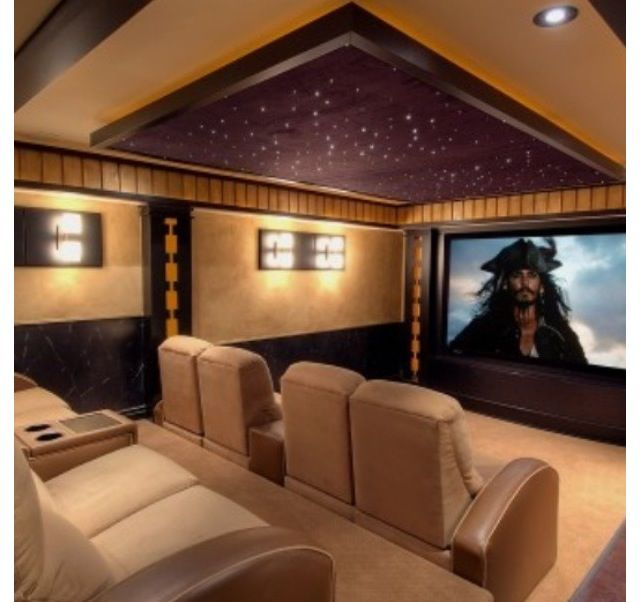 Home Cinema Room Home Theater: Basement Movie Room. Yes. A-Must In My House ! (With
