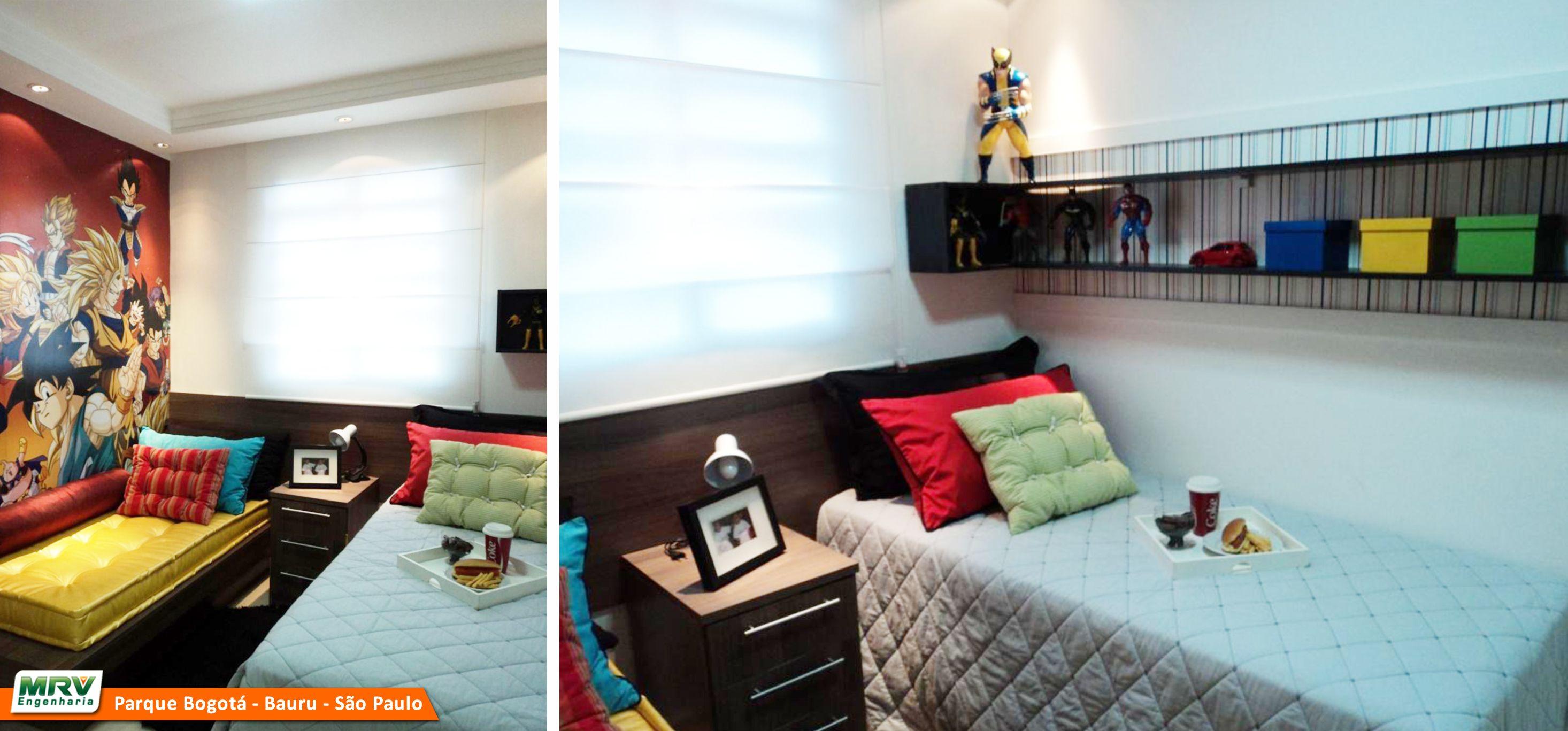 Apartamento Decorado 2 Dormit Rios Do Parque Bogot No Bairro  ~ Quarto Casal Decorado Pequeno E Quarto De Menino Pequeno