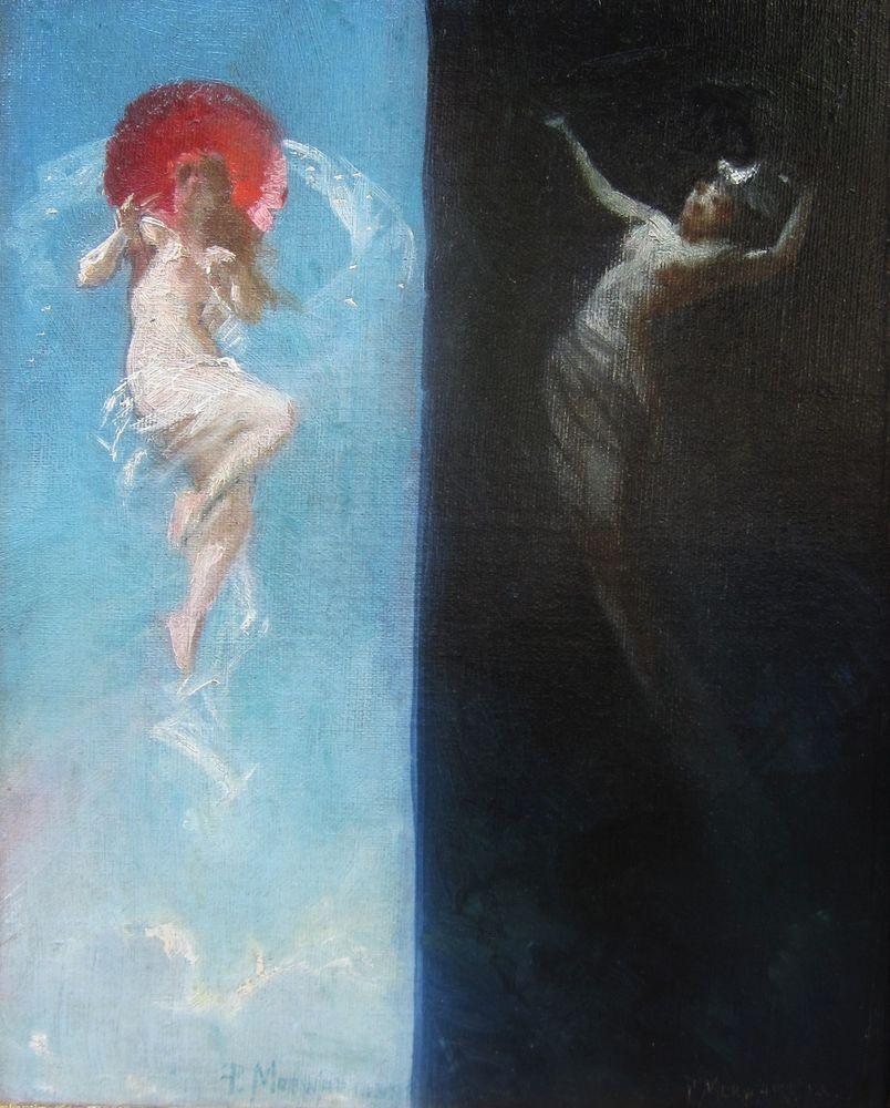 Paul Merwart Tableau Symboliste Peintre Polonais Allegorie Jour Nuit Symbolisme De Nacht