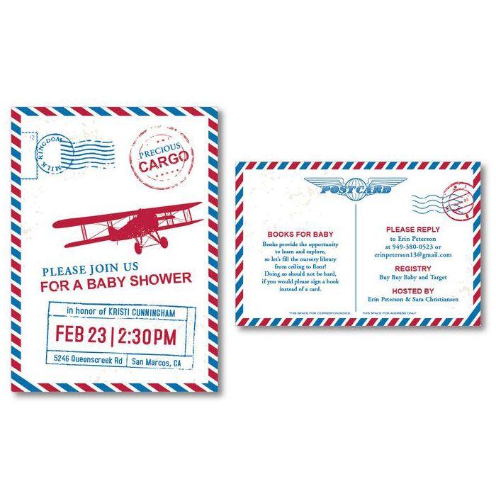 Precious Cargo Baby Shower Custom Invitation By I Heart To Party Ideas For Boys Airplane Theme