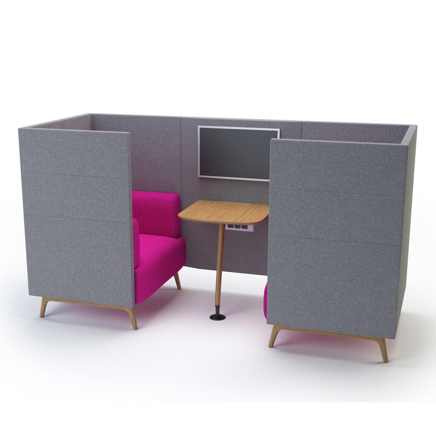 Tryst Privacy Booths Are A Modular Soft Seating Series Offering Comfortable Alternative To The Orthodox Office Sofabusiness Schoolsoft