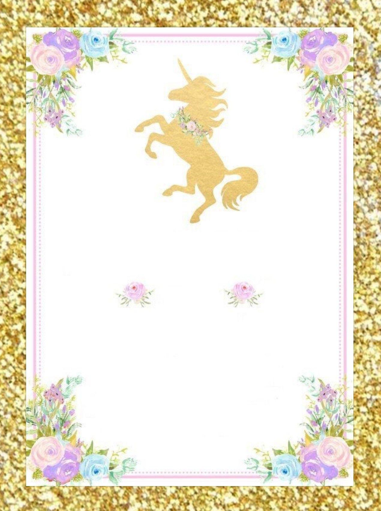 Pin De Iris Ortiz En Unicornio Invitaciones Unicornio