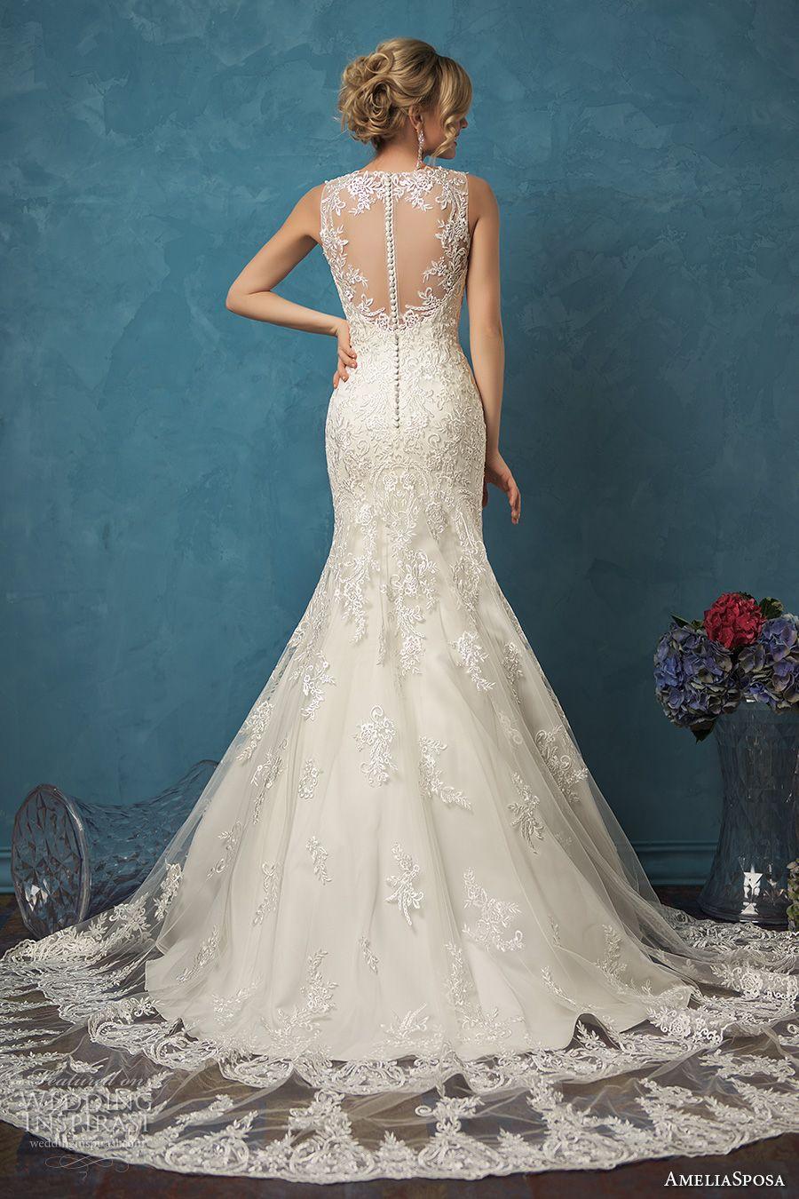 Amelia Sposa 2017 Wedding Dresses | Pinterest | De novia, Vestidos ...