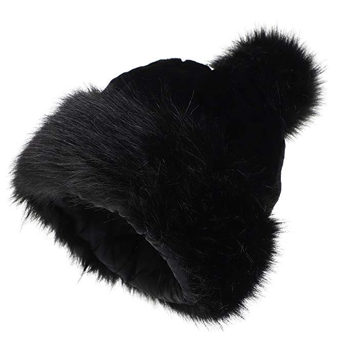 La Carrie Women S Faux Fur Hat Russian Cossack Pompom Cap For Winter Ski Snow At Amazon Women S Clothing Store Faux Fur Hat Faux Fur Hat Russian Fur Hat