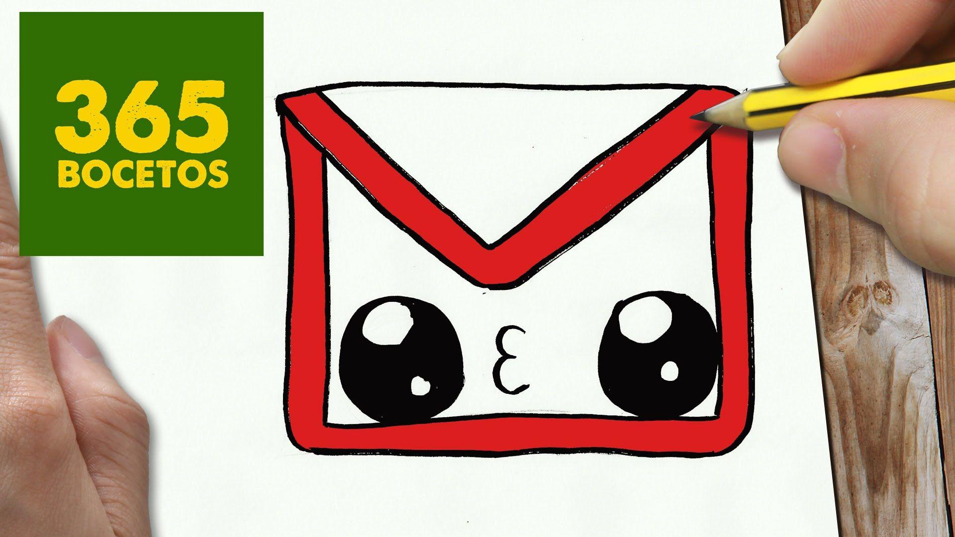 Como Dibujar Logo Gmail Kawaii Paso A Paso Dibujos Kawaii