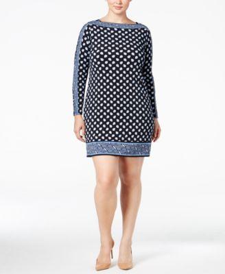 6e0139e2ad0 MICHAEL Michael Kors Plus Size Border-Print Sheath Dress