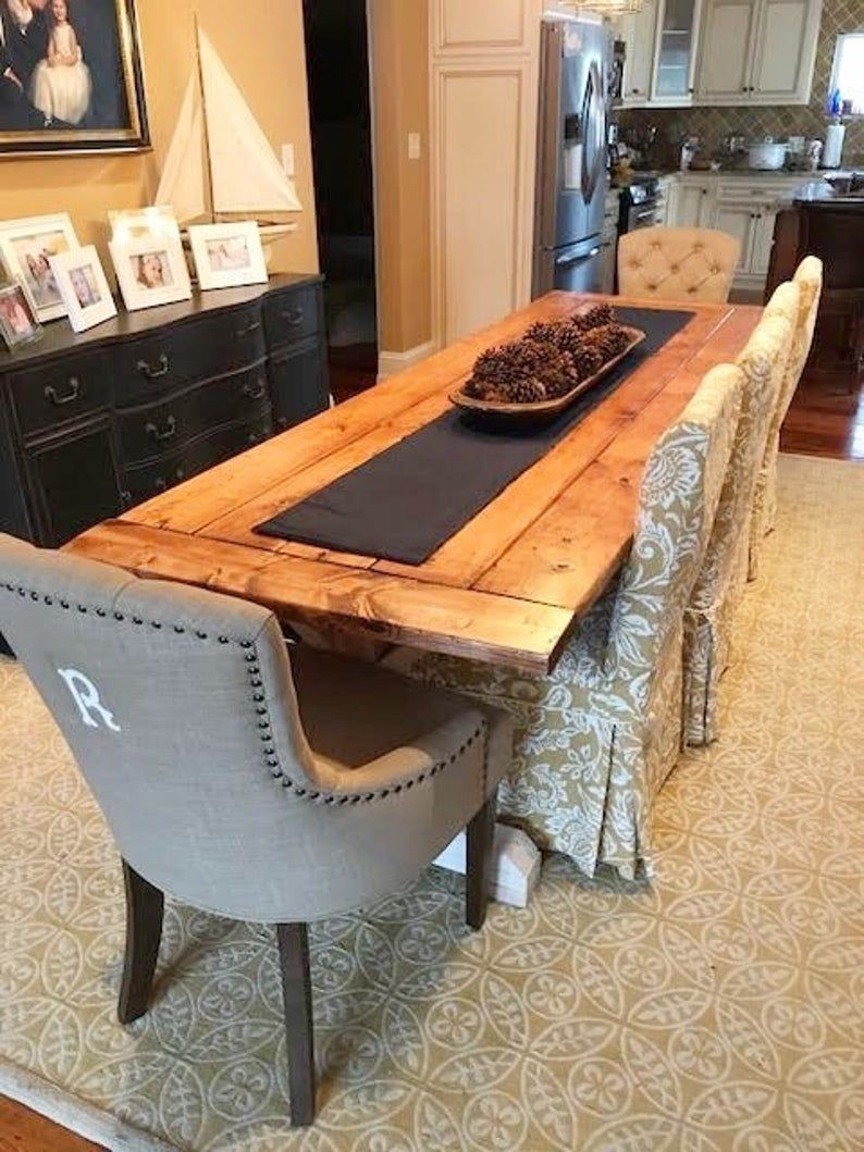 Dining Room Table Rustic Kitchen Table Large Farmhouse Table