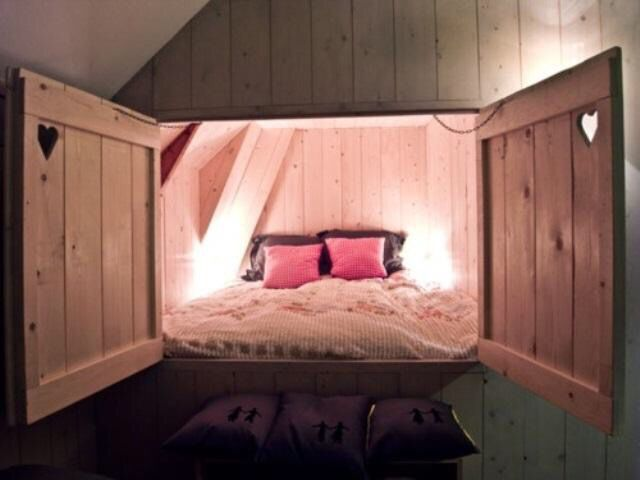 14 year old girl Home, Home bedroom, Hidden bed