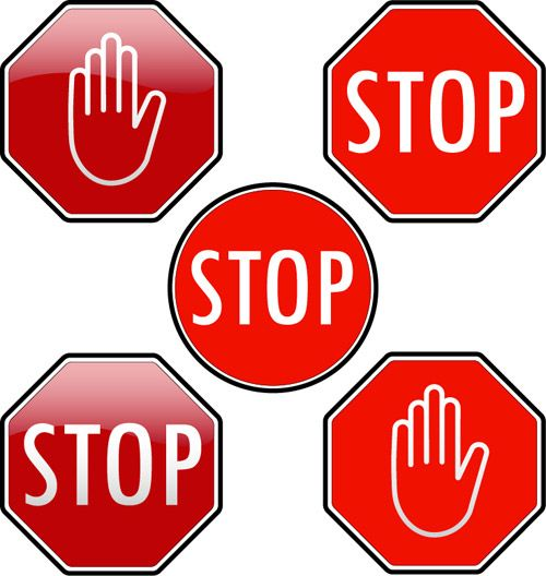 Declarative image with printable picture of a stop sign
