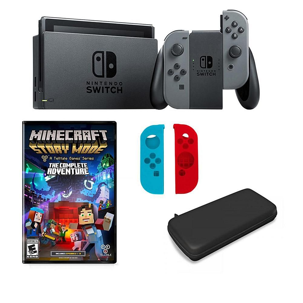 Nintendo Switch With Products Pinterest Grey Without Game Minecraft Story Mode And Accessory Bundle Gray