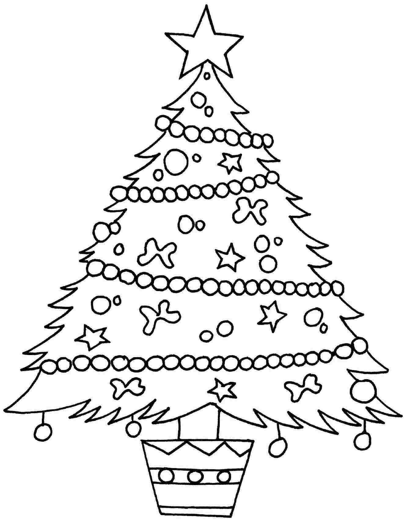 Christmas Tree Coloring Page Template #1 | Work stuff | Pinterest ...