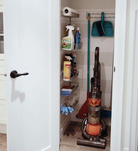 10 Kitchen Organization Ideas You Wish You Had Cleaning Closet Organization Broom Closet Organizer Cleaning Closet